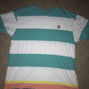 BILLIONAIRE BOYS CLUB STRIPED LOGO TEE